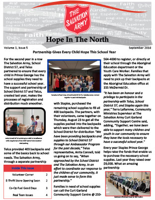 Hope in the North - September 2018